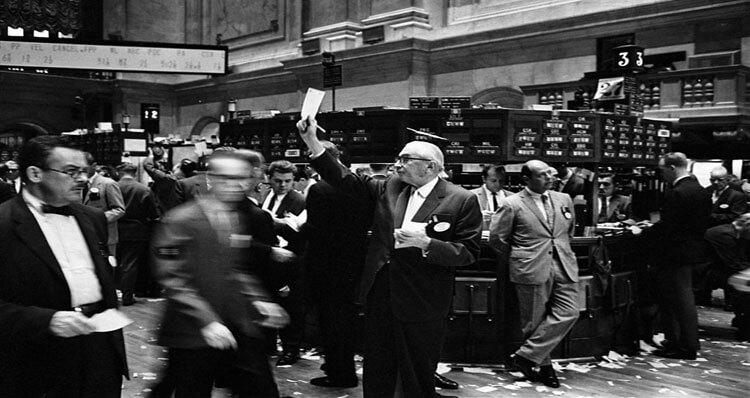 brokers, corredores de bolsa en nueva york